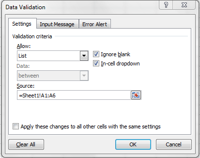 Excel VBA Drop Down Lists Using Data Validation - VBA and VB.Net ...