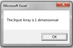 message box, 1 dimensional array