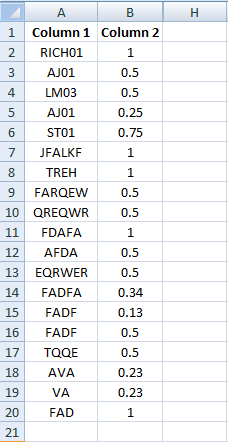 Excel, Formulas and Functions more data in sheet 2