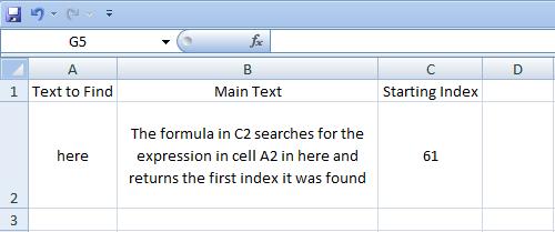 Excel, Formulas, Find, Result 2