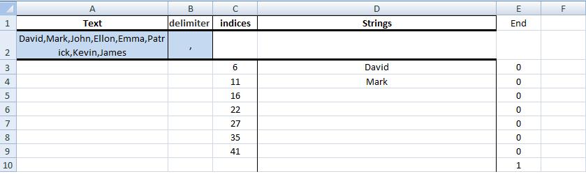Excel, Formulas, Sample1, Step4, Get Next String Result