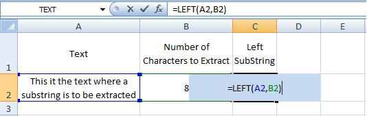 Excel, LEFT, Formulas