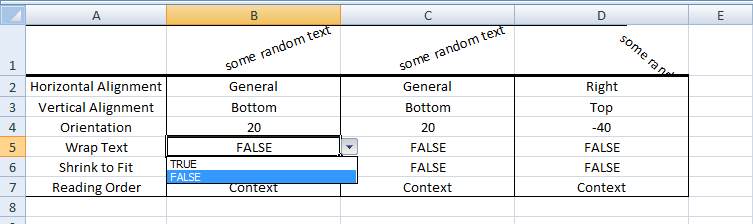 Excel VBA, Change Wrap Text