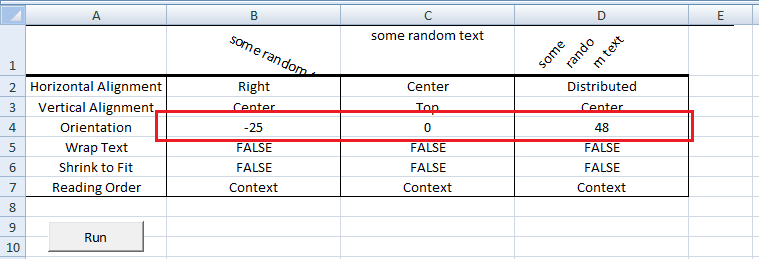 Excel VBA, Random Random Orientation