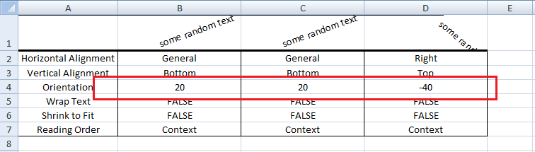 Excel VBA, Set Orientation