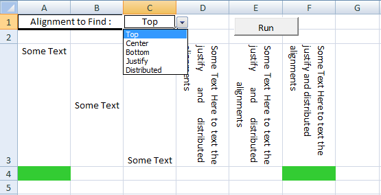Access Text Vertical Alignment : Excel vba get vertical alignment sample code and