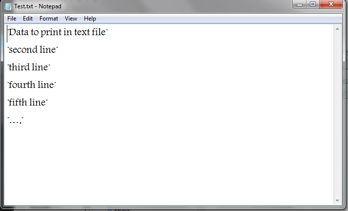 Excel VBA, Write to Text File, Result