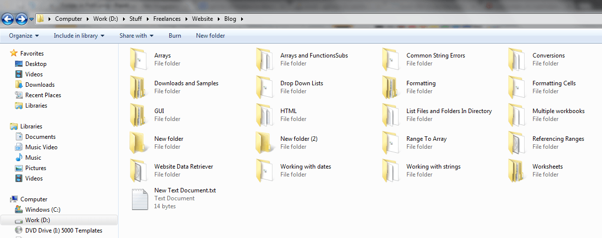 Folders in Path