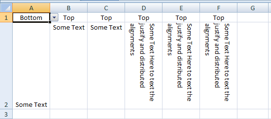 VBA Excel, Vertical Alignment, Bottom