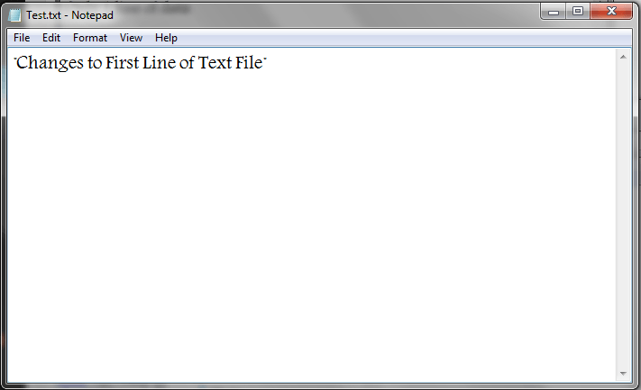 VBA, Modify Text File, Only one Line, Result