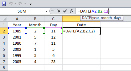 Excel, Date Function, Example 4