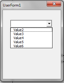VBA, Drop Down List, Remove Item
