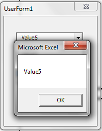 VBA, Selected Value Result Drop Down List
