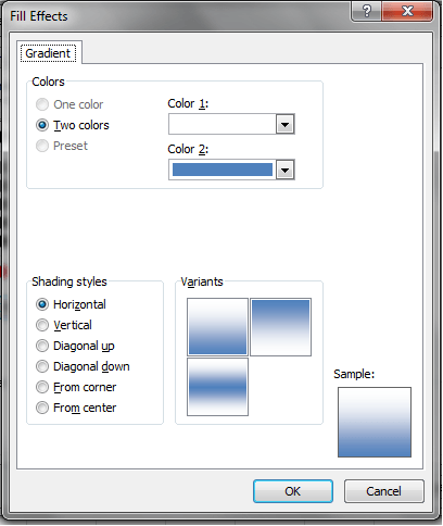 Fill Effects Dialog