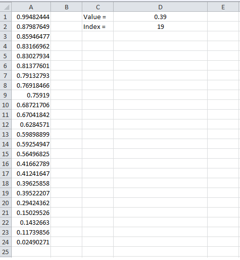 Example 5, Excel, MATCH, Formula, Result