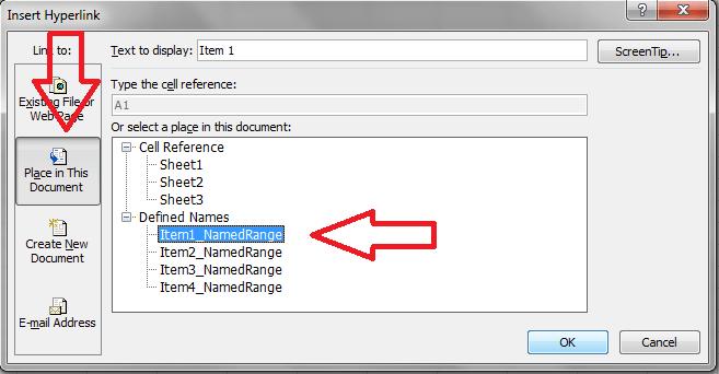 Excel, Hyperlink, Insert
