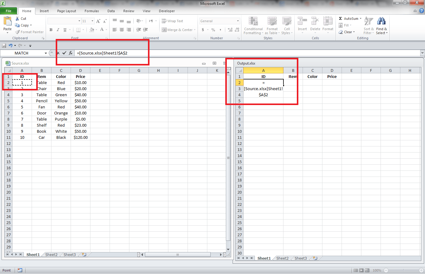 automatically updating sheet list in excel