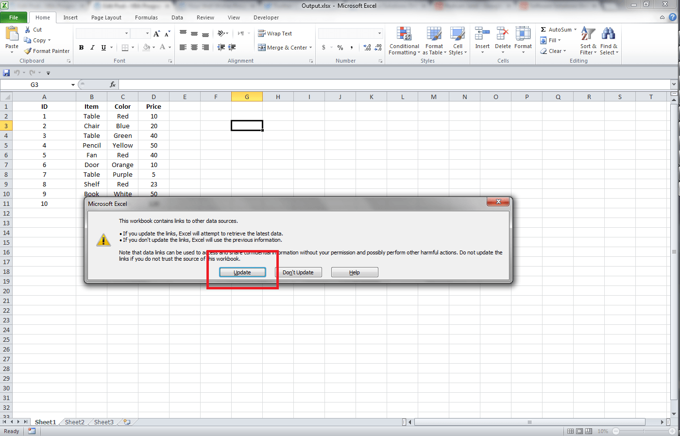 Excel, Getting Data From Another Workbook Through Links - VBA and ...