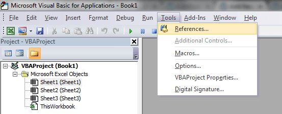 Word VBA, Early Binding, Tools Reference