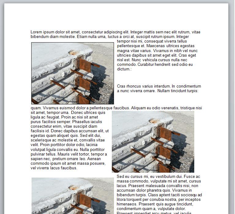Word VBA, Floating images