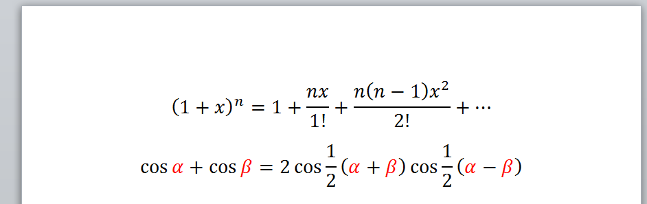Example 2, Color Font Result