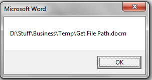 Get File Path, Word Document