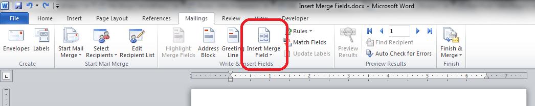 Insert Merge Fields