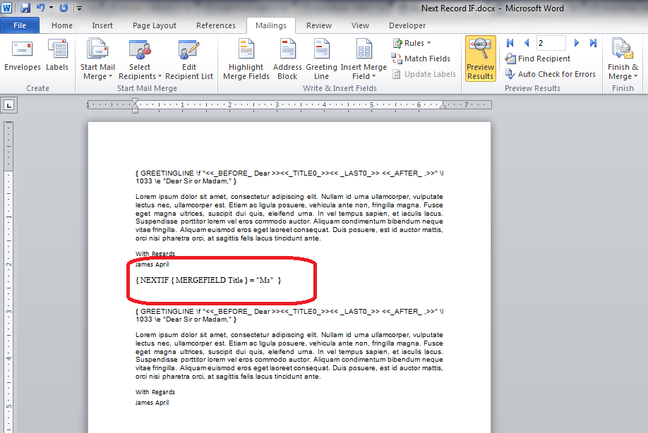 how to create mail merge in ms word