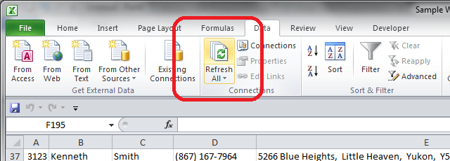 how to connect excel to access database using vba
