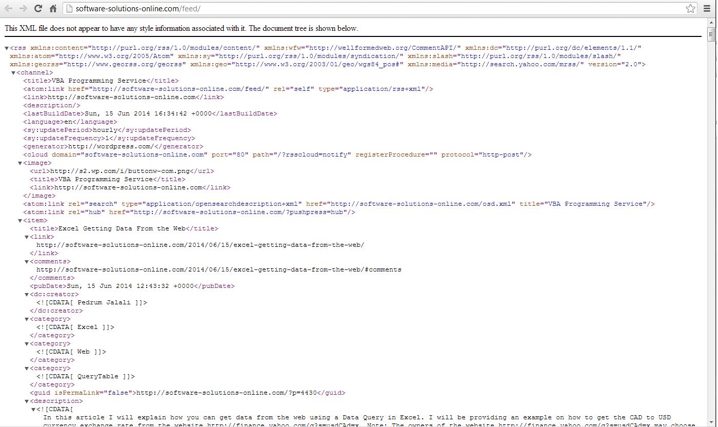 Excel Vba Get Data From Web Using Msxml Vba And Vb Net