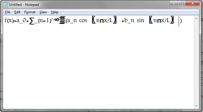 Word Equation in NotePad