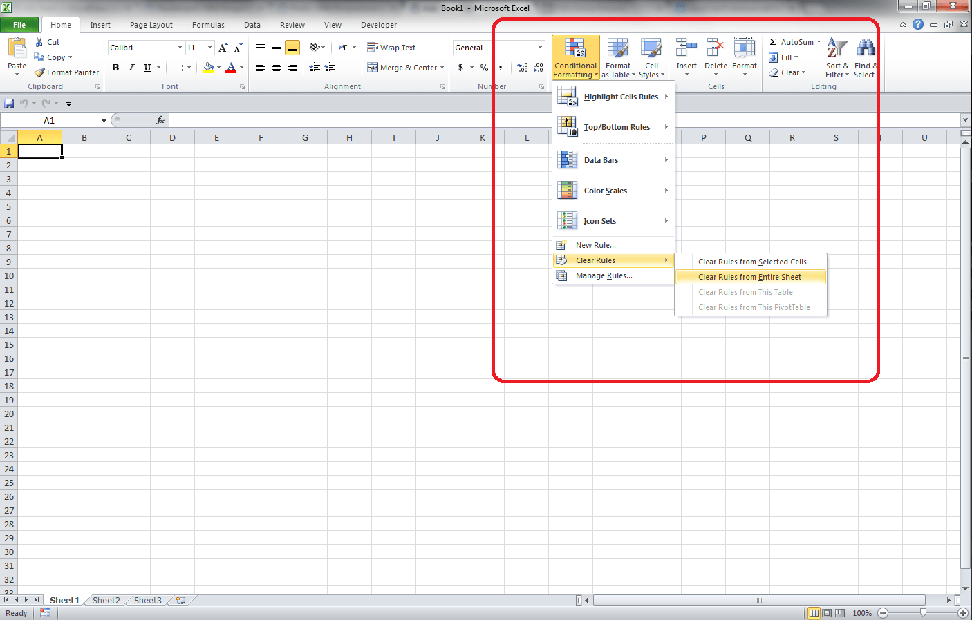 how to show formatting in excel