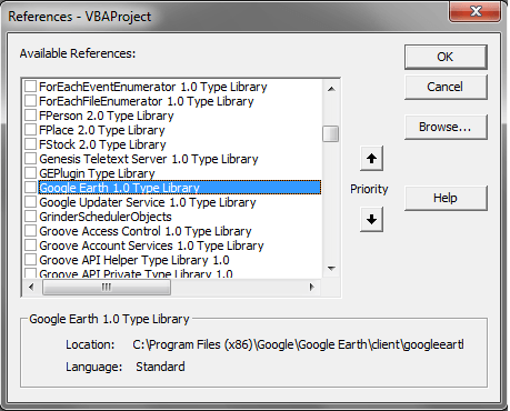 Earth 1.0 Type Library