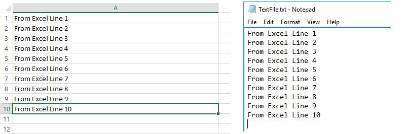 Vba open file write append
