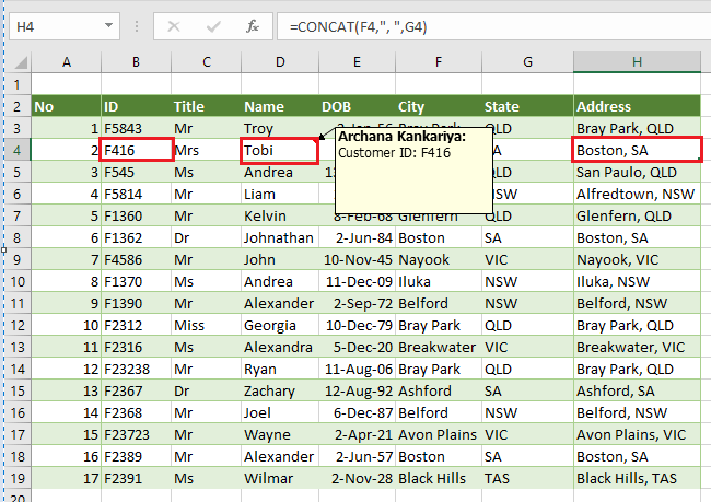 how to set a cell value using vba