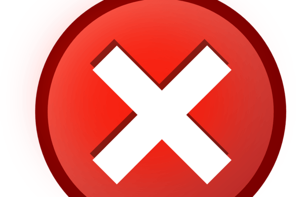 red circle with x in it