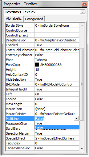Excel Vba Userform Disable Textbox VBA change form and