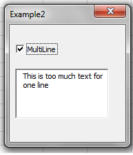 MultiLine TextBoxes(2)