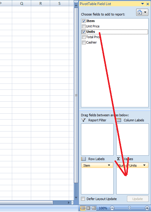 Add Field to Value Area, Pivot Table, Excel
