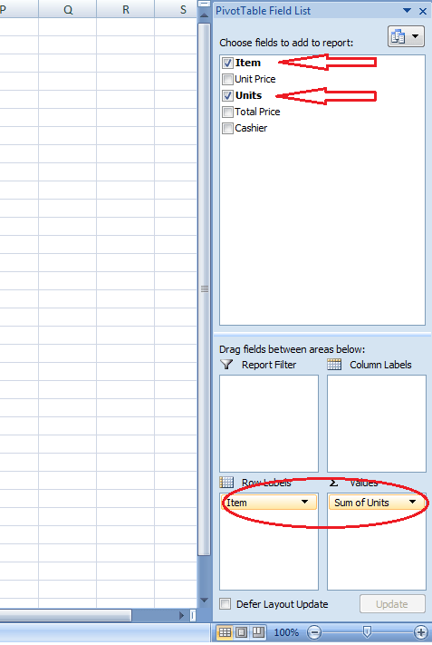 Adding Items to PivotTable Field List Excel