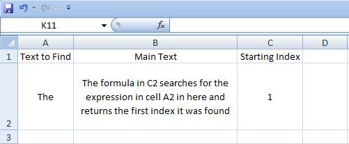 Excel, Formulas, Find, Result