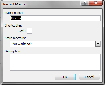 Excel, Macro Recorder Name and Location