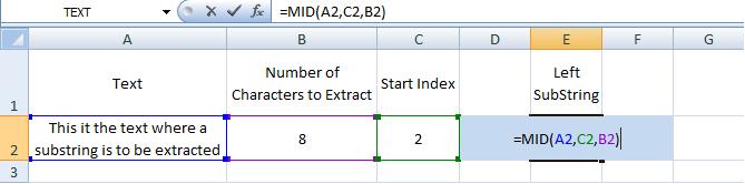 Excel, MID, Formulas