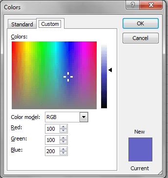 Excel VBA, DIalogs, Color Example, 2