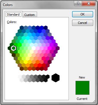 Excel VBA, DIalogs, Color Example