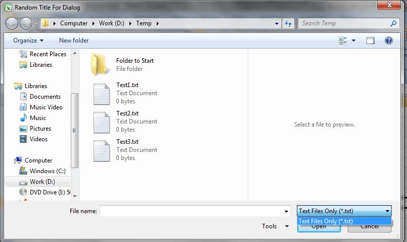 Excel VBA, Open File Dialog Filter