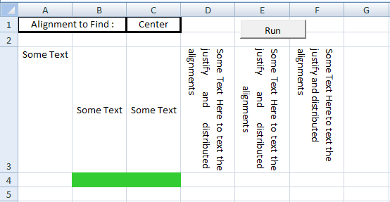 Excel VBA, Set Vertical Alignment, Modified Cells