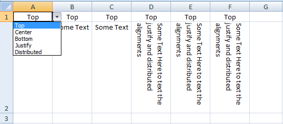 VBA Excel, Vertical Alignment