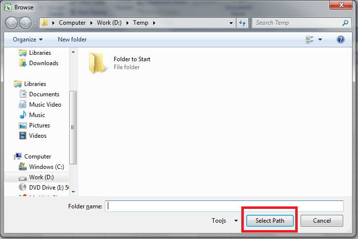 VBA, Folder Dialog, Example 2, Button Name, NEw