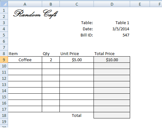 Create Invoice/Bill Using VLOOKUP (Step by Step Tutorial) - VBA and